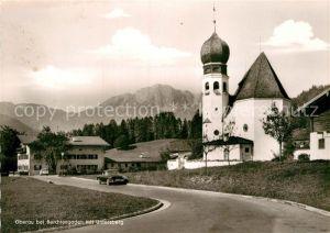AK / Ansichtskarte Oberau Berchtesgaden Kirche Untersberg Kat. Berchtesgaden