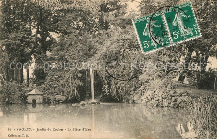AK / Ansichtskarte Troyes Aube Jardin du Rocher  Kat. Troyes