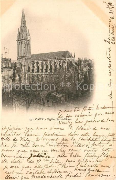 AK / Ansichtskarte Caen Eglise Saint Pierre Kat. Caen