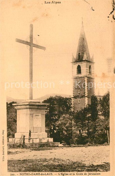 AK / Ansichtskarte Notre Dame du Laus Eglise et la Croix de Jerusalem Clocher Kat. Saint Etienne le Laus