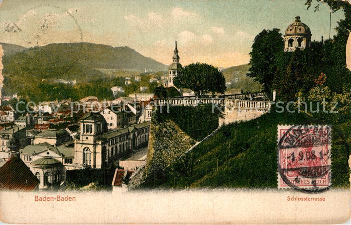AK / Ansichtskarte Baden Baden Schlossterrasse Kat. Baden Baden