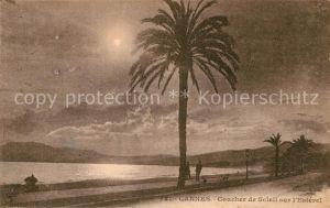 AK / Ansichtskarte Cannes Alpes Maritimes Coucher de Soleil sur l Esterel Kat. Cannes