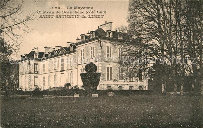 AK / Ansichtskarte Saint Saturnin du Limet Chateau de Beauchene Kat. Saint Saturnin du Limet