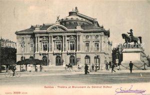 AK / Ansichtskarte Geneve GE Theatre et Monument du General Dufour Kat. Geneve
