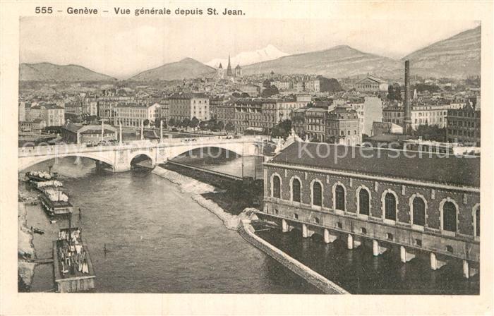 AK / Ansichtskarte Geneve GE Vue generale depuis Saint Jean Pont Kat. Geneve