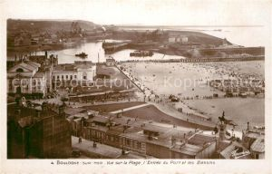 AK / Ansichtskarte Boulogne sur Mer Vue sur la Plage Entree du Port et les Bassins Kat. Boulogne sur Mer