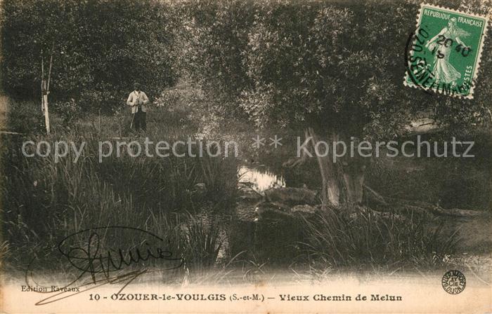 AK / Ansichtskarte Ozouer le Voulgis Chemin de Melun Kat. Ozouer le Voulgis