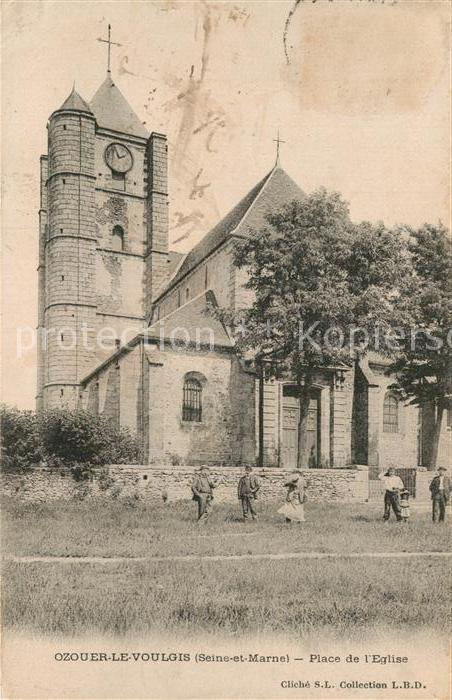 AK / Ansichtskarte Ozouer le Voulgis Place de Eglise Kat. Ozouer le Voulgis