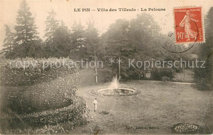AK / Ansichtskarte Le Pin Seine et Marne Villa des Tilleuls La Pelouse Kat. Le Pin