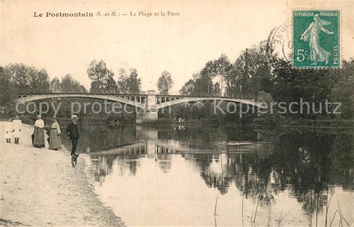 AK / Ansichtskarte Noyen sur Seine Portmontain Plage Pont Kat. Noyen sur Seine