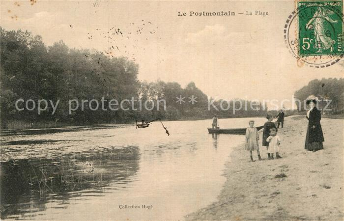 AK / Ansichtskarte Noyen sur Seine Le Portmontain Strand Kat. Noyen sur Seine