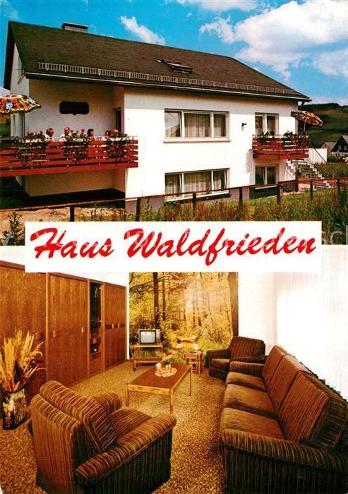 AK / Ansichtskarte Boedefeld Haus Waldfrieden Kat. Schmallenberg