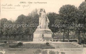 AK / Ansichtskarte Creil Monument Statue Kat. Creil