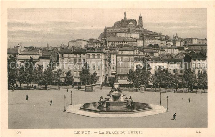 AK / Ansichtskarte Le Puy en Velay Place du Breuil Kat. Le Puy en Velay
