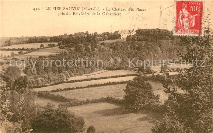 AK / Ansichtskarte Le Fief Sauvin Chateau des Places Belvedere Gabardiere Kat. Le Fief Sauvin