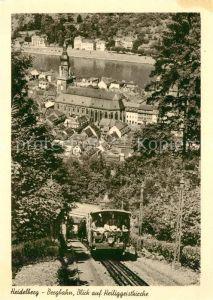 AK / Ansichtskarte Heidelberg Neckar Bergbahn Blick auf die Heiliggeistkirche Kat. Heidelberg