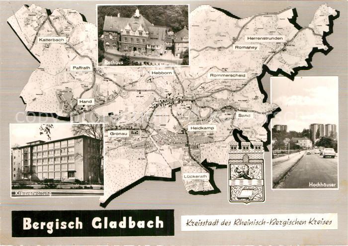 Ak Ansichtskarte Bergisch Gladbach Hochhaeuser Kreisverwaltung