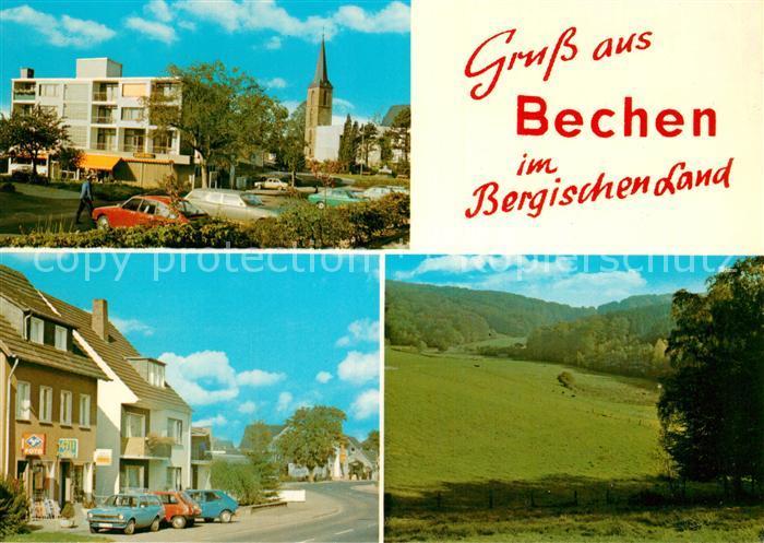 Bechen Rheinland Kirche Weide Teilansicht  Kat. Kuerten