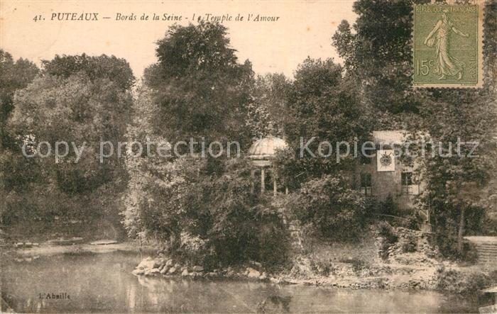 AK / Ansichtskarte Puteaux Ufer Seine Temple Amour Kat. Puteaux