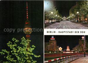Berlin Fernsehturm Brandenburger Tor Strausberger Platz Kat. Berlin