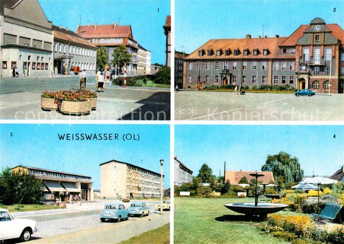 Weisswasser Oberlausitz Muskauer Strasse Rathaus Wohnkomplex Humboldtstr Anlagen Muskauer Str Kat. Weisswasser