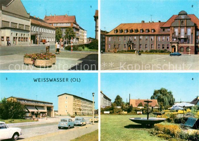 Weisswasser Oberlausitz Muskauer Str Rathaus Wohnkomplex Humboldtstr Anlagen Kat. Weisswasser