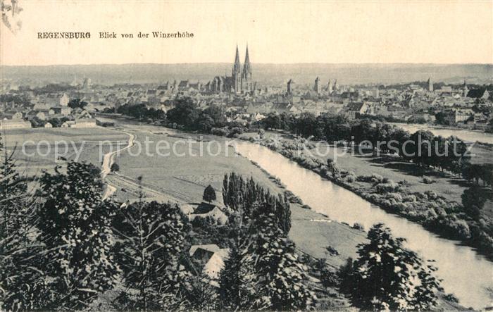 AK / Ansichtskarte Regensburg Blick von der Winzerhoehe Kat. Regensburg