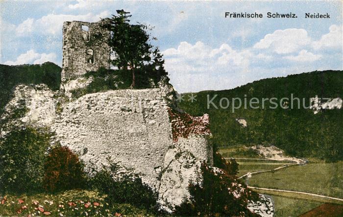 AK / Ansichtskarte Fraenkische Schweiz Ruine Neideck Kat. Pottenstein
