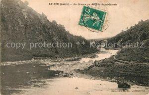 AK / Ansichtskarte Le Pin Indre La Creuse au Rocher Saint Martin Kat. Badecon le Pin