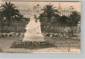 AK / Ansichtskarte Nice Alpes Maritimes Monument eleve a la Memoire de S.M. la Reine Victoria Kat. Nice