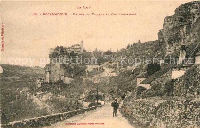 AK / Ansichtskarte Rocamadour Entree du village et vue d ensemble Kat. Rocamadour