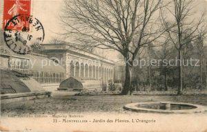 AK / Ansichtskarte Montpellier Herault Jardin des Plantes Orangerie Kat. Montpellier