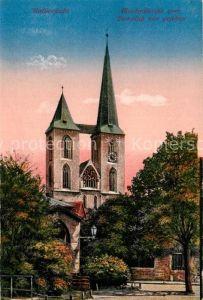 AK / Ansichtskarte Halberstadt Martinikirche vom Domplatz gesehen Kat. Halberstadt