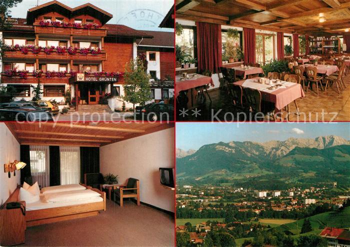 Ak ansichtskarte sonthofen oberallgaeu hotel gruenten for Hotel in sonthofen und umgebung