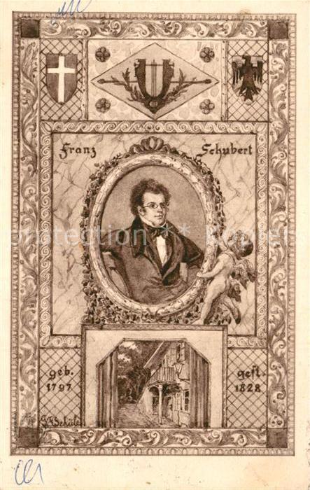 AK / Ansichtskarte Schubert Franz G. F. Schuele Kat. Persoenlichkeiten