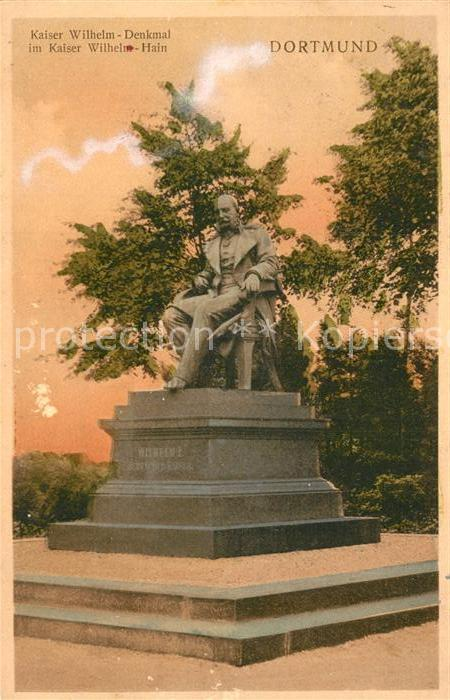 AK / Ansichtskarte Dortmund Kaiser Wilhelm Denkmal  Kat. Dortmund
