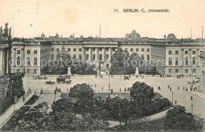 AK / Ansichtskarte Berlin Universitaet Kat. Berlin