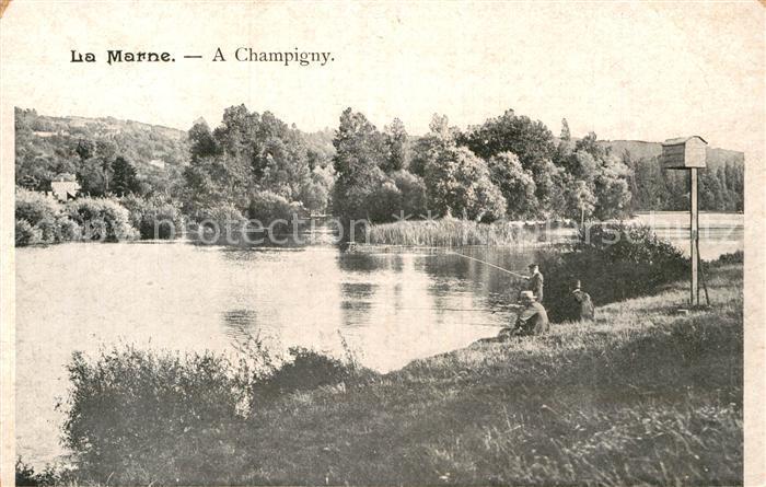 AK / Ansichtskarte Champigny Marne Aux bords de la Marne pecheurs Kat. Champigny