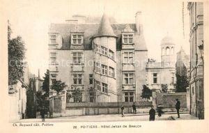 AK / Ansichtskarte Poitiers Vienne Hotel Jehan de Beauce Kat. Poitiers