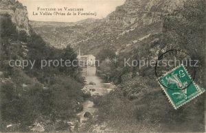 AK / Ansichtskarte Fontaine de Vaucluse La Vallee vue prise de la Fontaine Kat. Fontaine de Vaucluse