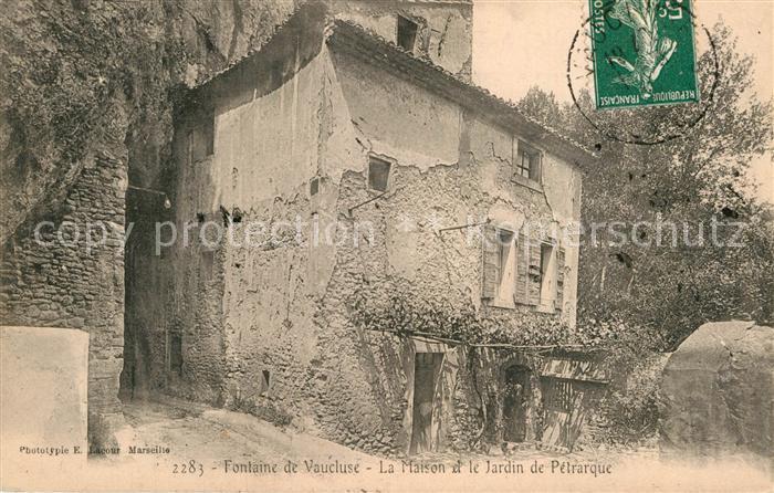 AK / Ansichtskarte Fontaine de Vaucluse La Maison et le Jardin de ...