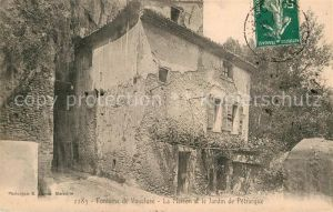 AK / Ansichtskarte Fontaine de Vaucluse La Maison et le Jardin de Petrarque Kat. Fontaine de Vaucluse