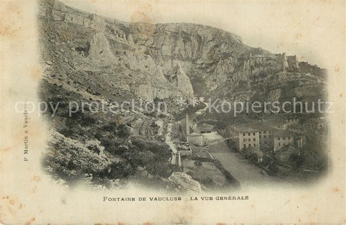 AK / Ansichtskarte Fontaine de Vaucluse Vue generale Kat. Fontaine de Vaucluse
