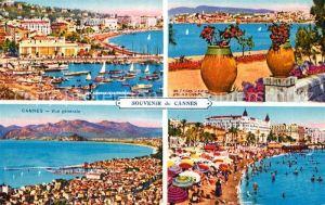 AK / Ansichtskarte Cannes Alpes Maritimes Vue generale Plage Vue prise de la Croisette Cote d Azur Kat. Cannes