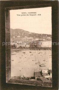 AK / Ansichtskarte Cannes Alpes Maritimes Vue prise du Suquet le port Cote d Azur Kat. Cannes
