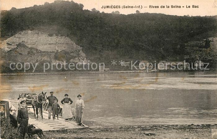 AK / Ansichtskarte Jumieges Rives de la Seine le bac Kat. Jumieges