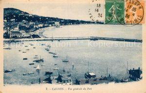 AK / Ansichtskarte Cannes Alpes Maritimes Vue generale du Port Cote d Azur Kat. Cannes