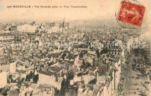 AK / Ansichtskarte Marseille Bouches du Rhone Vue generale prise du Pont Transbordeur