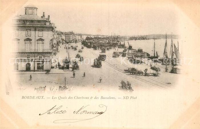 AK / Ansichtskarte Bordeaux Les Quais des Chartrons et des Baccalans Kat. Bordeaux