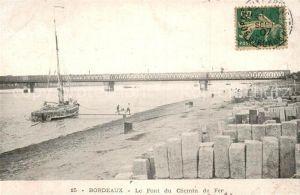 AK / Ansichtskarte Bordeaux Pont du Chemin de Fer Kat. Bordeaux